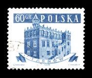 Postzegel door Polen wordt gedrukt dat royalty-vrije stock fotografie