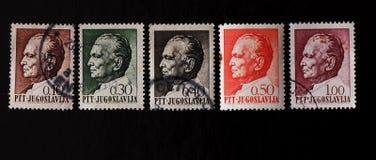 Postzegel Josip Broz Tito Stock Afbeelding
