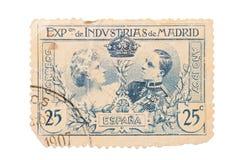 Postzegel op een witte achtergrond wordt geïsoleerd die royalty-vrije stock fotografie