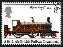 Postzegel van Drummond het UK van de het noorden de Britse Spoorweg Stock Fotografie