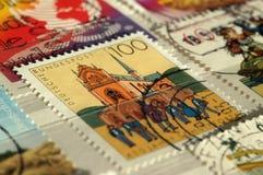 Postzegel van Duitsland Toont 450ste Verjaardag van Pforta-School stock afbeelding