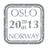 Postzegel van Noorwegen royalty-vrije illustratie
