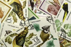 Postzegelachtergrond royalty-vrije stock afbeelding