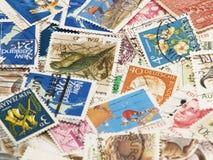 Postzegels. Achtergrond Royalty-vrije Stock Fotografie