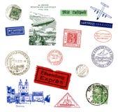Postzegels en etiketten van Duitsland Stock Foto's