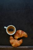 Postzeichenkaffee Stockbild