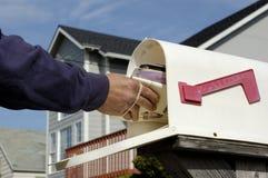 Postzustellung Stockbild