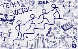 Posuwanie drużynowa praca ilustracji