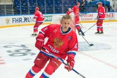 Posyła Rosyjskiego drużyna narodowa. Igor Larionov (8) Zdjęcie Stock