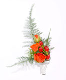 Posy bouquet. On the white Stock Image