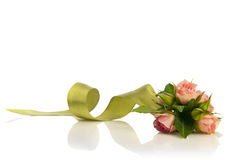 Posy bouquet. Nice wedding rose posy bouquet on white Stock Photos