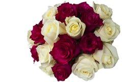 Posy das rosas vermelhas e brancas. fotos de stock royalty free