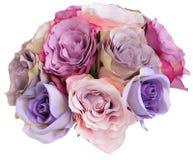 Posy de Bridesmade feito das rosas de seda fotos de stock royalty free