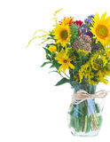 Posy of fall autumn flowers Stock Image