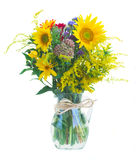 Posy of fall autumn flowers Royalty Free Stock Photography