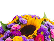 Posy of mixed autumn flowers Royalty Free Stock Image