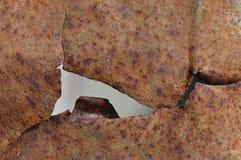 Poszarpana ośniedziała metal tekstura zdjęcia stock