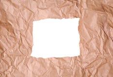 Poszarpany pakunku papier Obrazy Stock