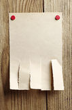 Poszarpany papier dla reklam fotografia royalty free