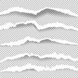 Poszarpany papier z rozdzierać krawędziami royalty ilustracja
