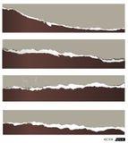 Poszarpany papierowy zmrok Ilustracja Wektor