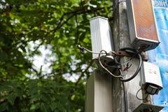Poszarpany w oddaleniu druciany kabel Zdjęcie Royalty Free
