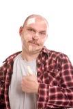 poszkodowany mężczyzna Fotografia Royalty Free