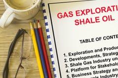 Poszukiwania gazu wliczając iłołupka oleju pojęcia obraz royalty free