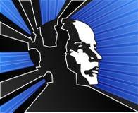 Potência azul da mente Foto de Stock Royalty Free