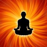 Potência da ioga - meditação. EPS 8 ilustração do vetor