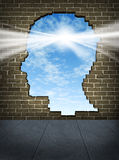 Potência da mente ilustração royalty free