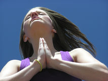 Potência da oração foto de stock