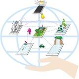 Potência da tecnologia Imagem de Stock Royalty Free