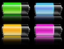 Potência de bateria ilustração royalty free