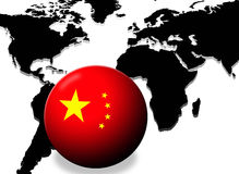 Potência de China ilustração do vetor