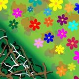 Potência de flor do fundo Fotos de Stock Royalty Free