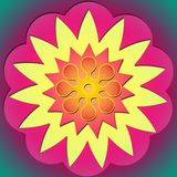 Potência de flor & sol 2 Foto de Stock