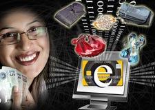 Potência do comércio electrónico ilustração stock