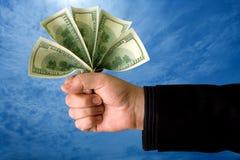 Potência do dinheiro Fotografia de Stock Royalty Free