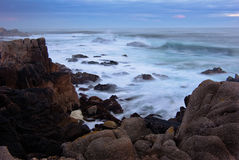 Potência do oceano de Monterey fotografia de stock royalty free