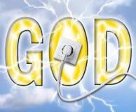 Potência dos deuses ilustração stock