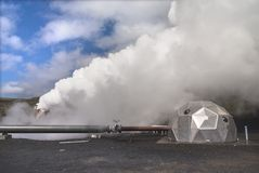 Potência Geothermal em Islândia fotos de stock royalty free