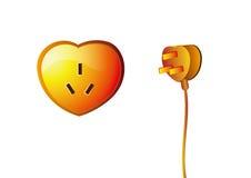 Potência Heart-shaped Imagem de Stock Royalty Free