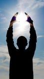 Potência nas mãos Imagem de Stock