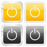 Potência quadrada do ícone ilustração stock