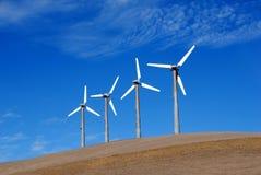 Potência que gera moinhos de vento Imagens de Stock
