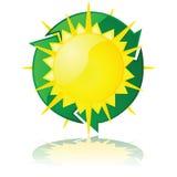 Potência solar ilustração stock