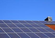 Potência solar residencial Fotografia de Stock