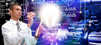 potência tecnologia industrial de fabricação Imagem de Stock
