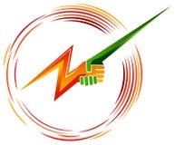 Potência verde ilustração do vetor